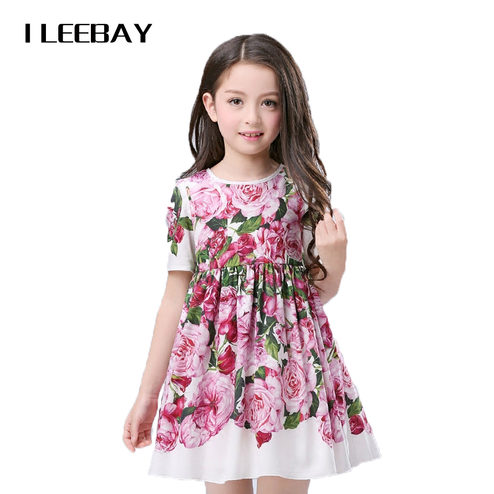 2017 Flower Baby Girls Dresses for Party and Wedding Toddler Girl Dress Children Rose Party Cosplay Gown Kids Clothes Vestidos flower girls dress 11 color with rose party birthday chirstening dress for baby girl princess children toddler girl vest dresses