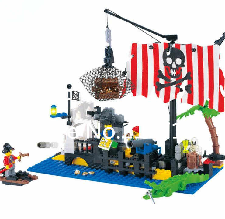 New 302 Pirates Series The Shipwreck Island Model Building Blocks Set Classic Caribbean Pirates Ship Toy For Children Toys For Pirate Ship Toytoys For Children Aliexpress