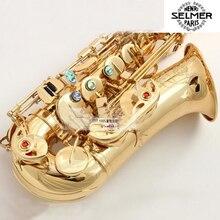 Selmer R54 Brand Saxophone Alto Eb Sax Musical Instrument Professional Grade Gold Lacquer Alto Sax Mouthpiece