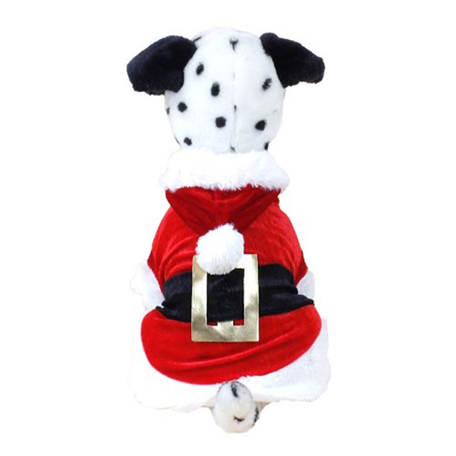 Christmas Dog Clothes for Dogs Chihuahua Winter Dog Christmas Costume Pet Clothes Warm Pet Cat Hoodie Coat Clothing 30A1