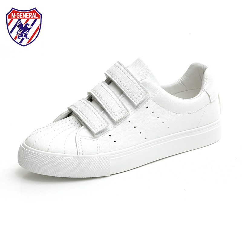 M.GENERAL new fashion women leather shoes female white shoes hook loop casual shoes low all match breathable summer shoes 35-40 m genreal 2017 new women white shoes all match summer breathable leather shoes vulcanized casual shoes candy color lace 35 39