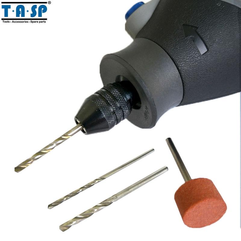 TASP Universal 3 Jaw Mini Chuck sin llave 0.5-3.2mm Collet Mini - Accesorios para herramientas eléctricas - foto 3