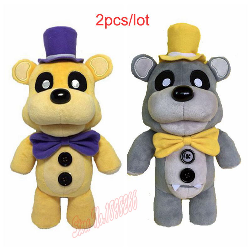 (2 pieces/lot) Wholesale 100% Factory 30cm/12Inch Five Nights At Freddy Teddy Bear Fnaf Plush Doll For Baby Kids Toys