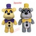 ( 2 unids/lote ) venta al por mayor 100% fábrica 30 cm / 12 pulgadas cinco noches At Freddy oso de peluche Fnaf muñeca de la felpa para bebés juguetes para niños