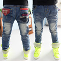 Novel Design Spring/Autumn Casual Boys Jeans for Denim Kids Pants Trousers Baby Toddlers Clothes 2017 T1/3387BO