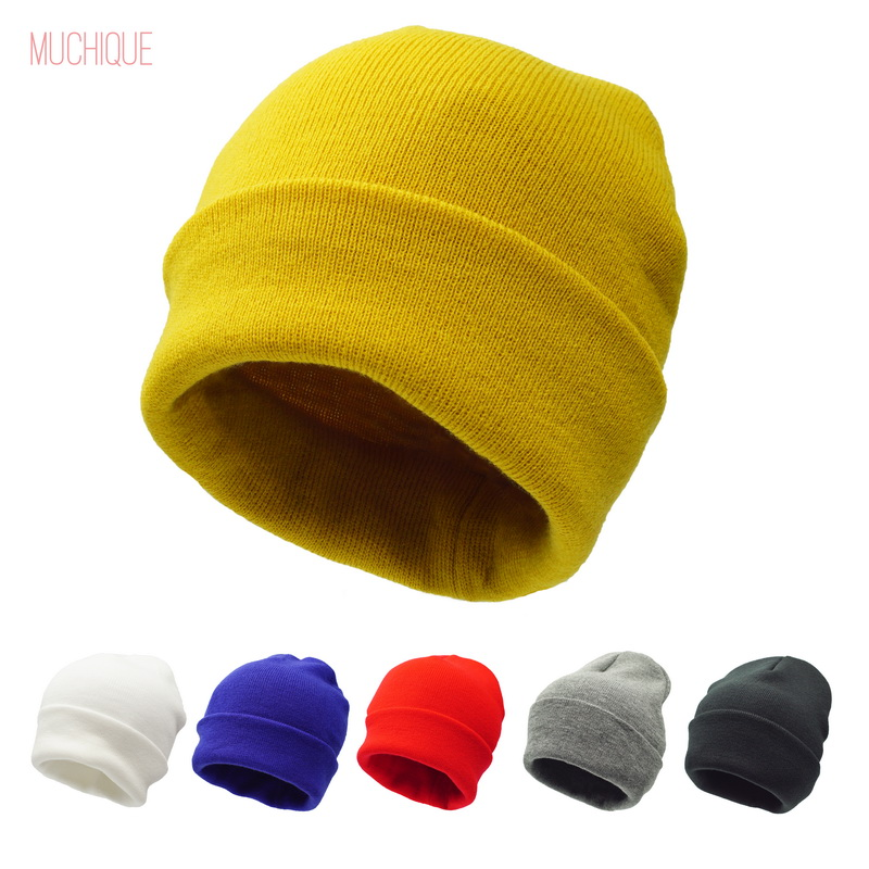 Women   Beanie   Lady Winter hat for Men ladies Unisex Knitted cuff   skully     Beanies   Warm Soft Fashion 475001