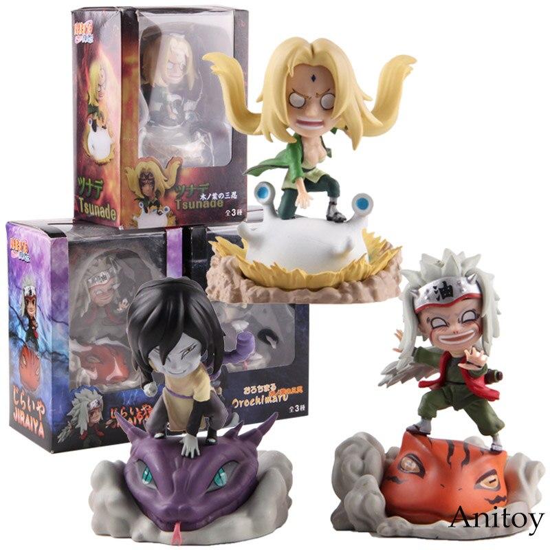 Anime Naruto Shippuden Tsunade Jiraiya Orochimaru Naruto Action Figure PVC Collectible Model Toy