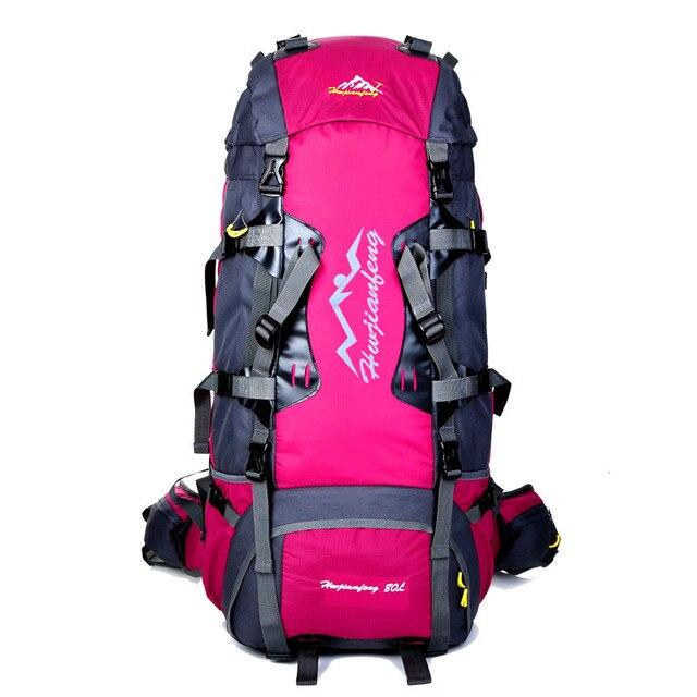 Women Travel Bags Men Climbing Bag 80L Hiking Backpacks Large ...