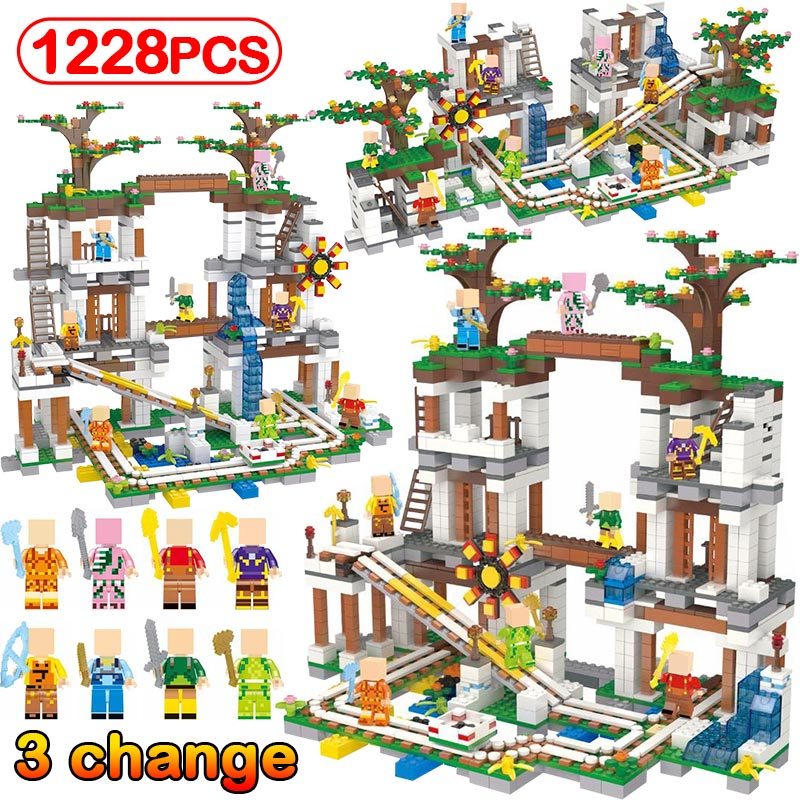 1228pcs My World Cave Organ Compatible Legoinglys Minecrafted Mine Slideway Figures Building Blocks Bricks Toys For Kids Gifts