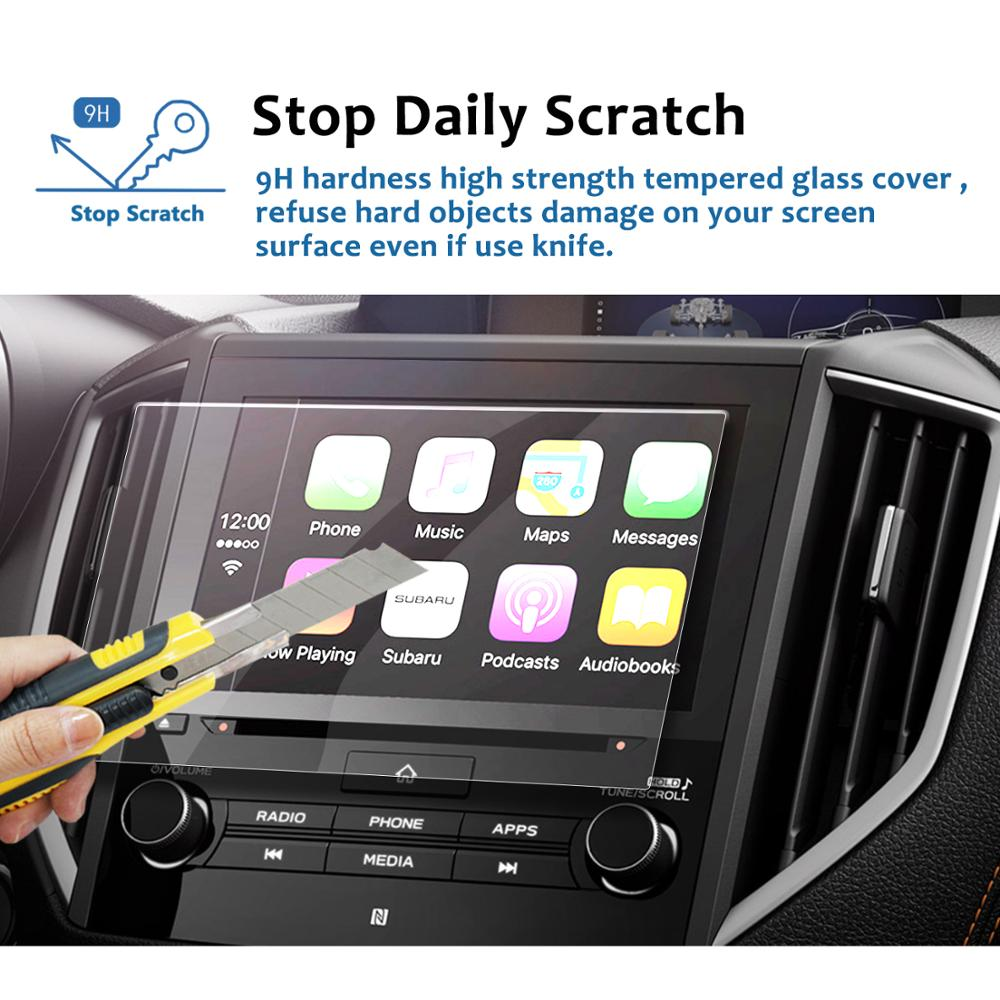 Car display Tempered Glass Screen Protector For Subaru Forester 2016-2018