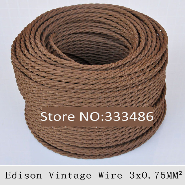 Fantastic 3 0 75Mm Vintage Lamp Cord Textile Wire Retro Edison Pendant Light Wiring Digital Resources Remcakbiperorg
