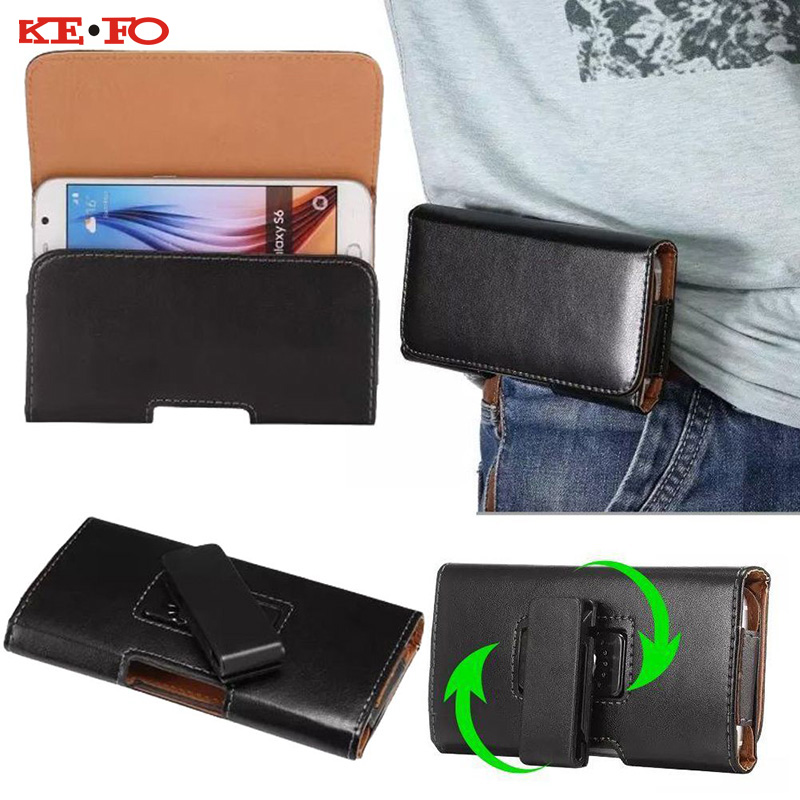 KEFO Belt Clip Holster PU Leather Pouch For Iphone Xs Max Waist Case Cover For Iphone XR X 10 4 5S SE 6S 7 8 Plus Ipod Touch 5 6