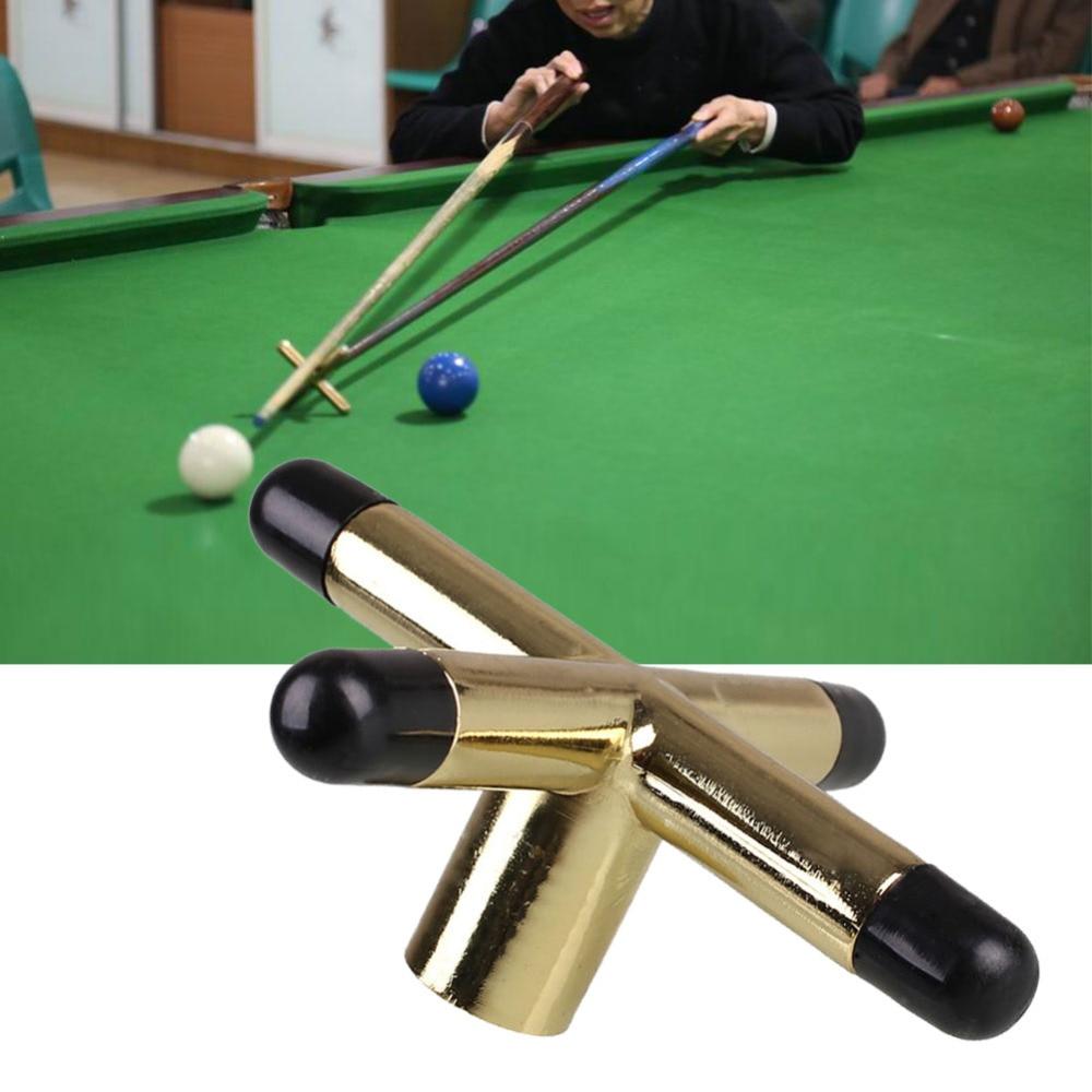 Copper Snooker Pool Cue Cross Rest Head Screw On Table Billiards Bridge Head Cross Cue Rest Copper Head