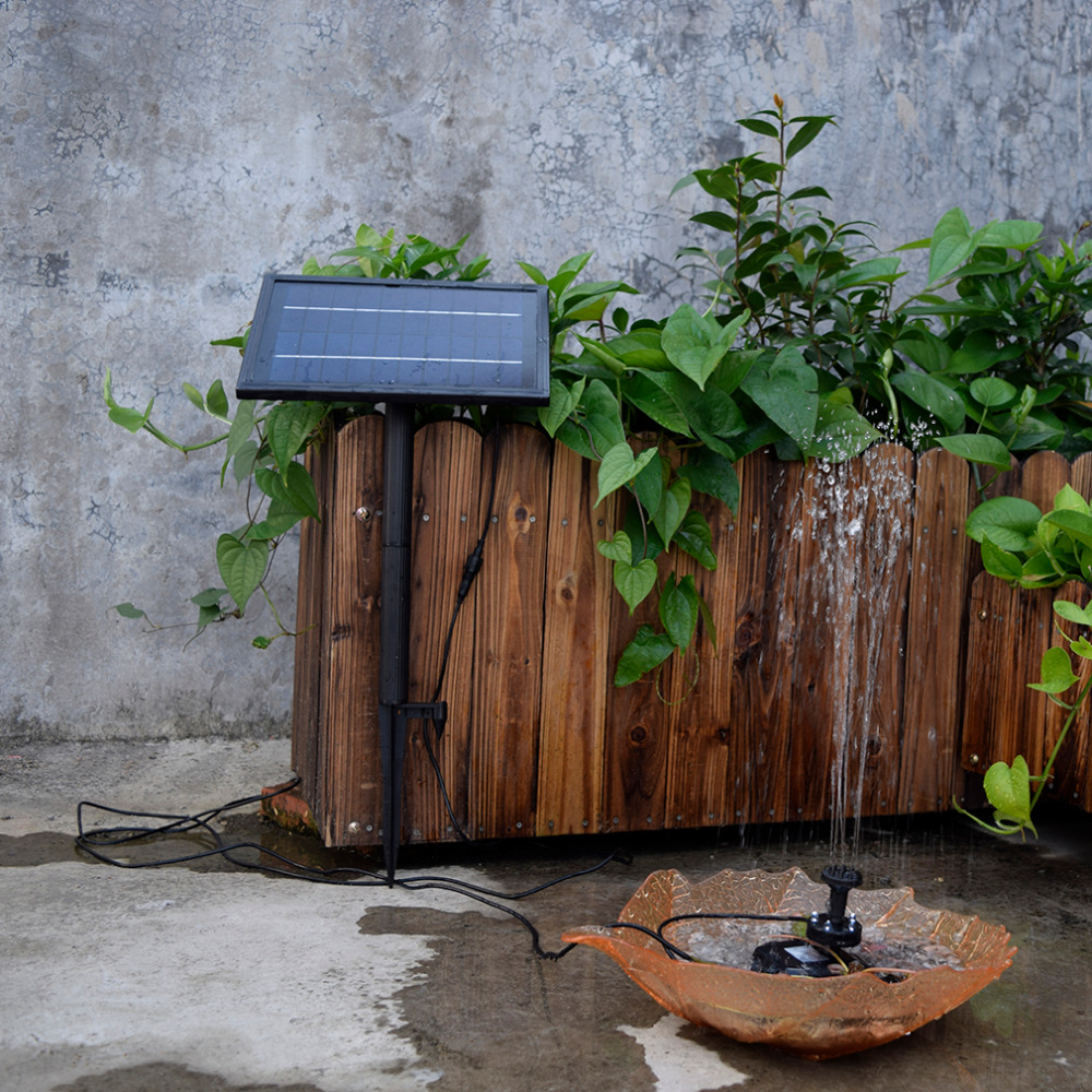 ФОТО SP025 Modern Design Home Garden Decoration Mini Solar Powered Solar Panel Fountain Pool Garden Watering Pump