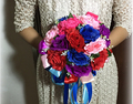 2017 Bridal Bridesmaid Wedding Bouquet Cheap New Colorful Handmade Artificial Peony Flower Wedding Bouquets Bridal Bouquets