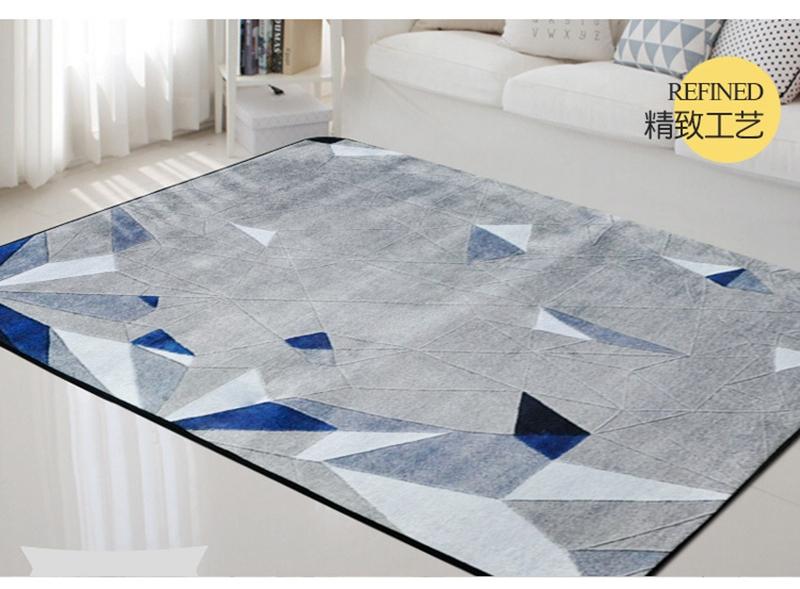 alfombras azules de la sala Alfombras Rectangulares Geomtricas Nrdicas Azules Y Grises Estampadas Alfombras De Sala De Estar Tapete Antideslizante Para Nios Y Nios Alfombras