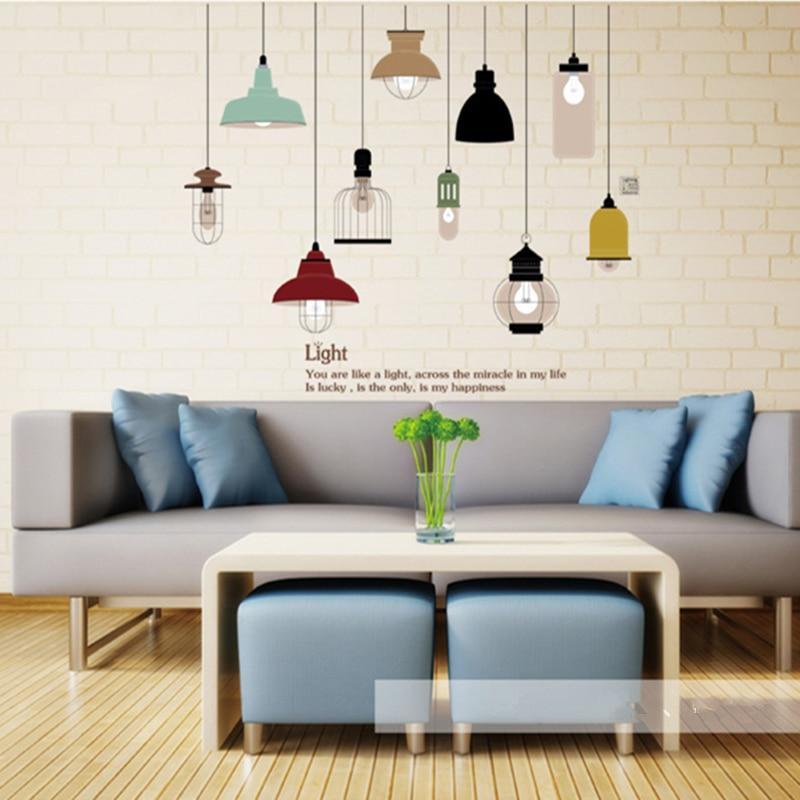 Shine Light Bulb Wall Sticker Living Room Bedroom Decor ... on Room Decor Stickers id=12937