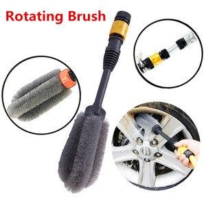 Image 5 - Escova de lavagem automática de rotação 360 graus, escova limpa para lavar carro, ferramenta de mão