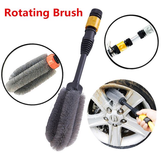 Vehicle Car Wheel Automatic Washing Brush 360 Degrees Rotation Clean Wash Hand Tool