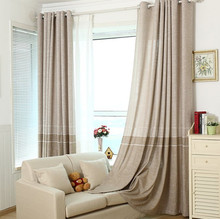 Minimalist Modern Cotton Linen Curtains for Living Dining Room Bedroom