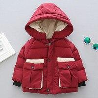Stylish And Fashion Design Boy Stripe Warm Cotton Coat Baby Toddler Boys Autumn Winter Hooded Coat