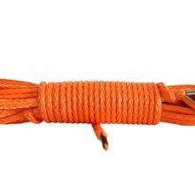 Оранжевый 5 мм* 15 м ATV трос лебедки, лебедка линии для автоматического Запчасти, СВМПЭ веревку, синтетический трос лебедки