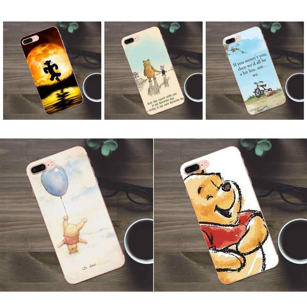 Bixedx Modèle Doux Pour Apple iPhone X 4 4S 5 5C SE 6 6S 7 8 Plus Galaxy A3 A5 J1 J2 J3 J5 J7 2017 Winnie L'ourson Belle Citations