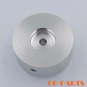 Image 5 - 1 PC robuste 48*22mm usiné plein aluminium Volume potentiomètre bouton capuchon pour Hifi DVD DAC CD platine amplificateur argent noir