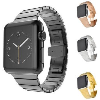 Correa de acero inoxidable de alta calidad para Apple Watch SERIE DE gomillas 1 2 3 4 5 correa de pulsera para 38mm 40mm 42mm 44mm iWatch