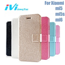 Case for Xiaomi mi6 mi5 mi5s Case mi 6 5s 5 Cover Luxury Matte Leather Flip Wallet Phone Cases Covers Gold Rose Pink Black White