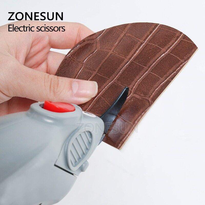 ZONESUN outil de coupe du papier, ciseaux électriques sans fil, coupe papier, valise en cuir, tissu, outil de coupe du coffre - 6