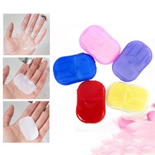 2Box=40pcs Convenient Soap Paper Travel Washing Hand Bath Travel Sheets Foaming Portable Outdoors Random Color #270136