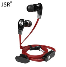 Original Brand Langsdom JM02 Bass Earphone Black Red Headset with Microphone for PC Player Mobile Phone