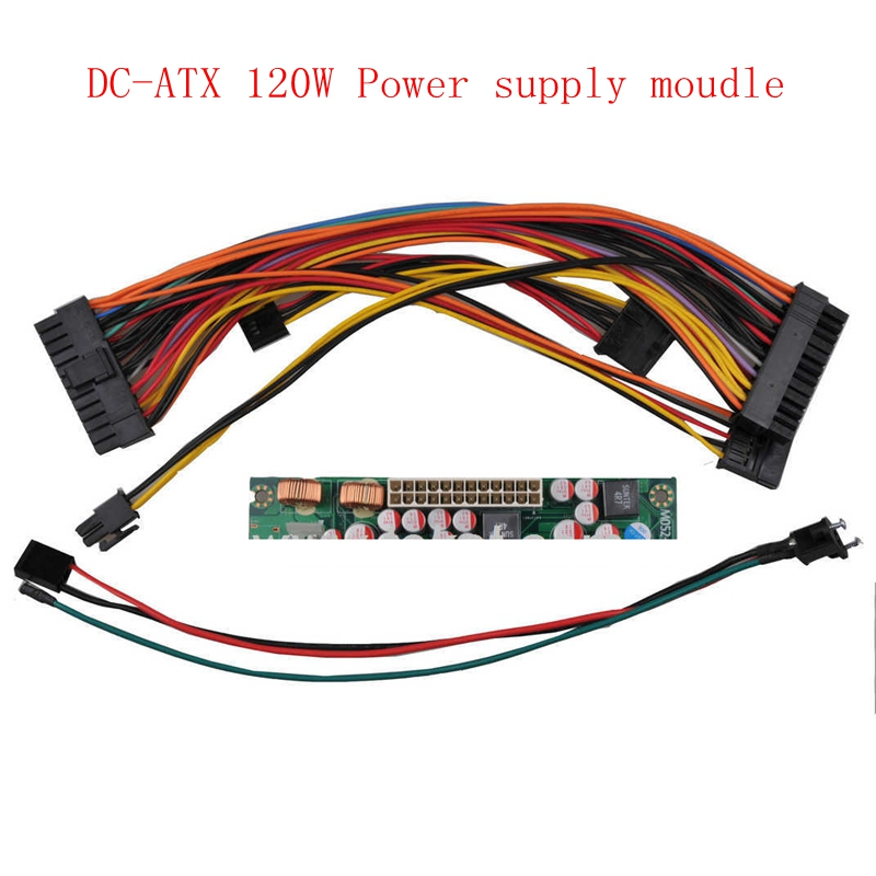 DC 12V 120W switch 24PIN Pico PSU DC-ATX power supply module ATX Switch PSU for Car Auto HTPC Mini ITX 24PIN цены