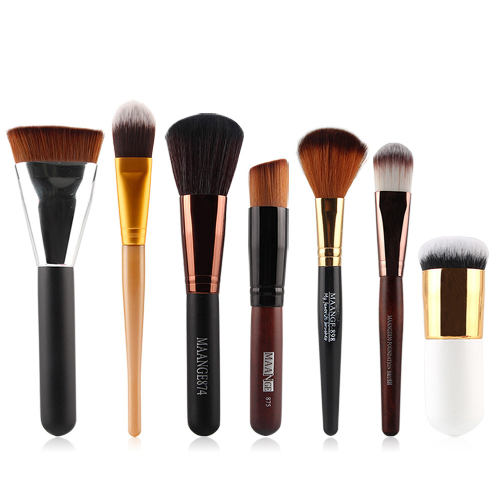 7 Pcs Professional Makeup Brushes Set  Foundation Blending  Make Up Brush Set Cosmetic Kits Makeup Set Make Up Brush 10pcs tooth brush shape oval makeup brush set multipurpose makeup brushes professional foundation powder brush kits make up tool