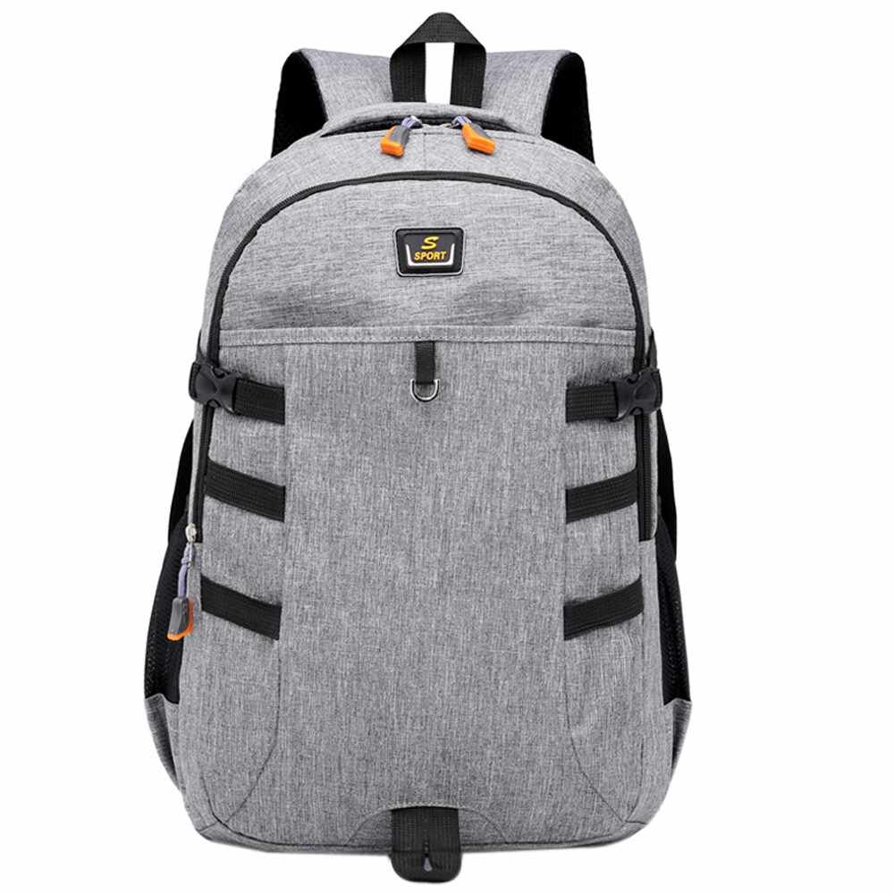 2019 Large Capacity Rucksack Man Travel Computer Bag Travel Bag Unisex Backpack Large Capacity Nylon Bags Student male Bags #YL5