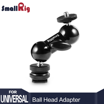 SmallRig fajna głowica kulowa V1 wielofunkcyjna podwójna głowica kulowa z uchwytem na buty i śrubą 1 4 #8222 do monitorów Led Light #8211 1135 tanie i dobre opinie Aluminium 2 40 X 2 40 X 9 90 Black Camera Ball Head