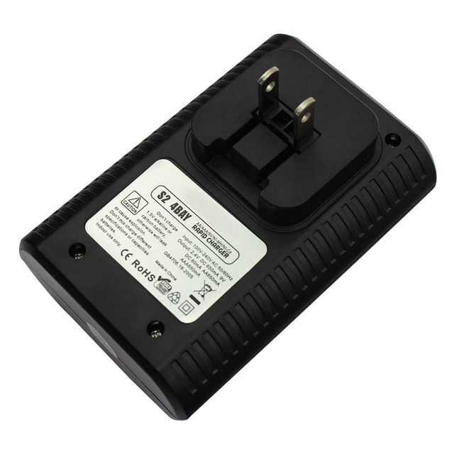 4 Bay 9V AA AAA Smart Battery Charger for Ni-MH Ni-Cd Rechargeable Battery Universal Batteries Chargers