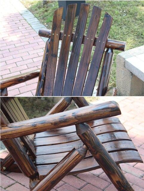 Adirondack Wood Rocking Chair  3