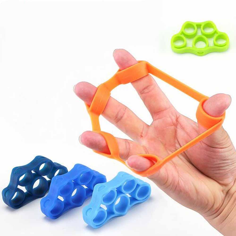 Silicone Finger Puller Hand Grip Strengthener Finger Exerciser Trainer Forearm Tools Fitness Equipment Finger Extensor Exerciser