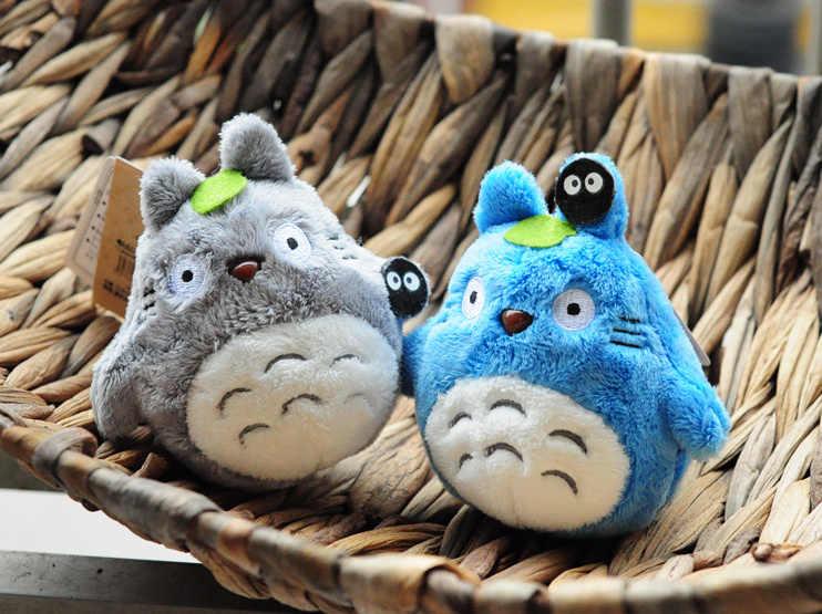 Mini 10 centímetros kawaii Anime Totoro Totoro Brinquedo de Pelúcia Keychain Brinquedo de Pelúcia Pingente de Pelúcia Bonecas Totoro