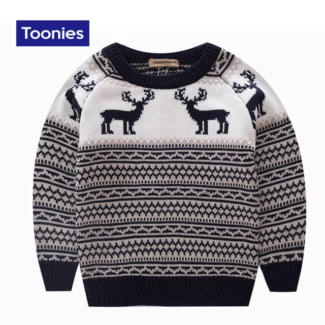Fashion Children's Sweater 2016 Autumn Hot Sale Pullover Cute Animal Knitted Sweater for Girls Boys Sweaters Kids Clothing 3~7Y