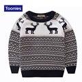 Niños de la manera del Suéter de 2016 del Otoño de La Venta Caliente Pullover Animal Lindo Suéter de Punto para Los Muchachos de Los Niños Ropa 3 ~ 7Y