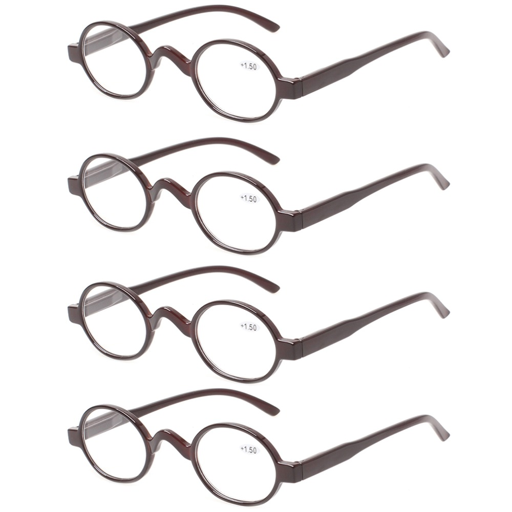 93e57799b17 4 pack fashion mini reading glasses women and men spring hinges round  eyeglasses frames readers-in Reading Glasses from Apparel Accessories on ...