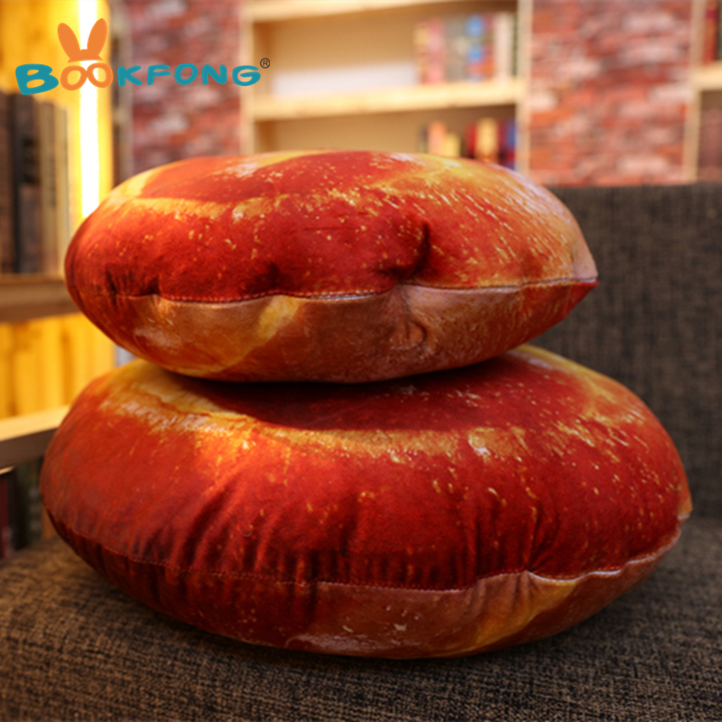 Bookfong 1pc Funny Simulation Pizza Bread Plush Doy Toy Sofa Pillow Creative Food Throw Cuison 38cm 56cm In Stuffed Animals From Toys