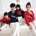 2016 New 1PC family matching clothes Mom/Dad/Baby Love Long-Sleeve Cotton T -shirts pullover spring/autumn Family Clothing S2859