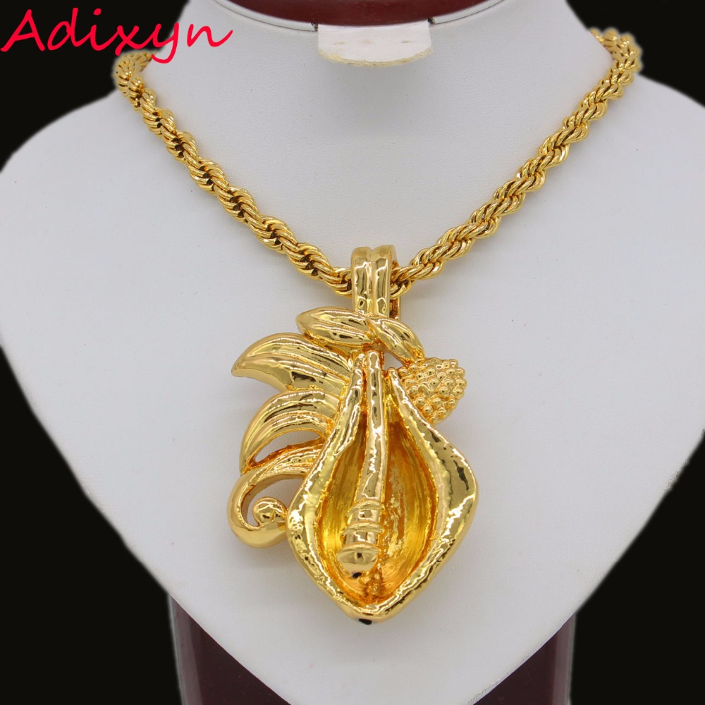 New Light Weight Nigerian Pendant Gold Color African