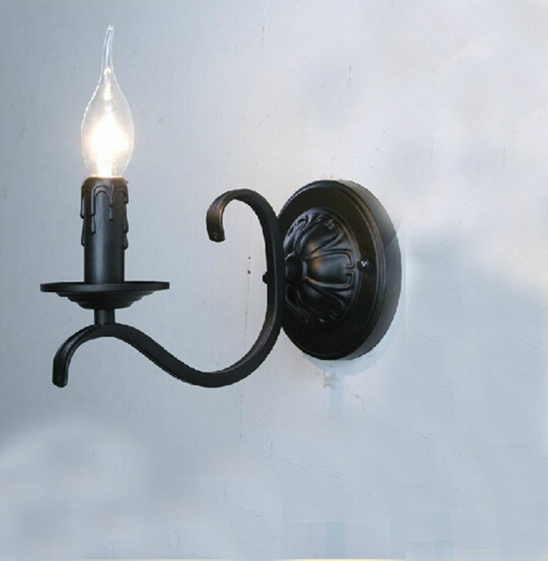 Metal Shaped Wall Lights : Popular Black Metal Candle Wall Sconces-Buy Cheap Black Metal Candle Wall Sconces lots from ...