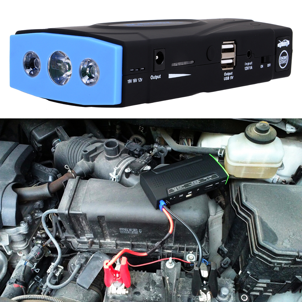 ФОТО 16800mAh Emergency Mini Car Vehicle Jump Starter  With Multi-function  Mobile Power Bank Car Battery Charger Power Supply