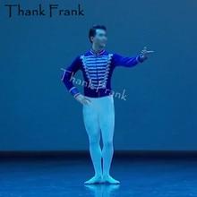 プロの男性バレエ衣装男の子長袖王子ダンストップカスタムメイドベルベット成人男性ステージ衣装絶賛服 C571